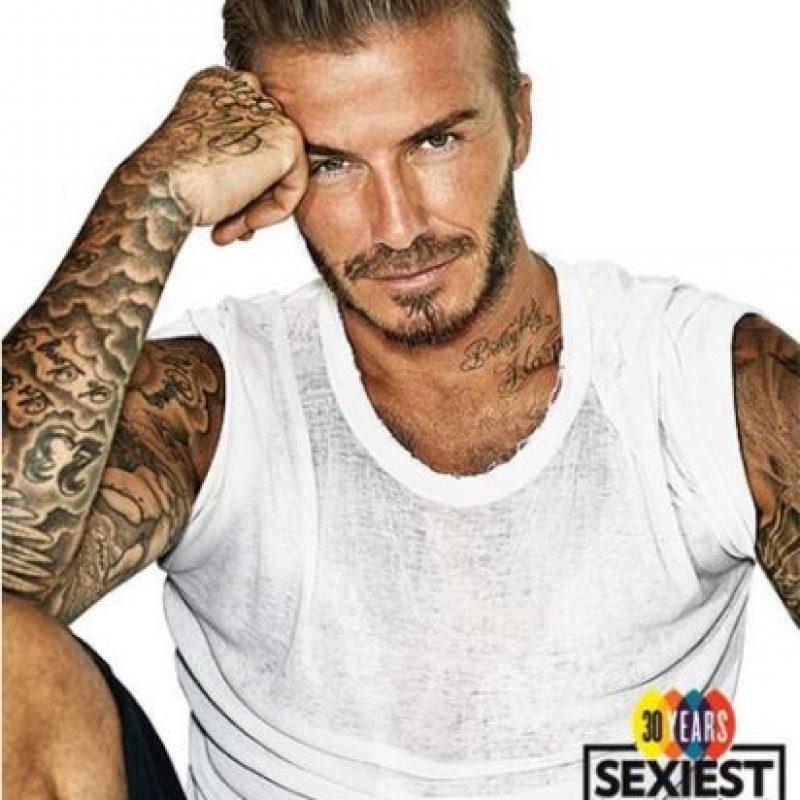 """""""Nunca he sentido sea una persona atractiva"""", aseguró el exfutbolista a la revista """"People"""". Foto:Revista """"People"""""""