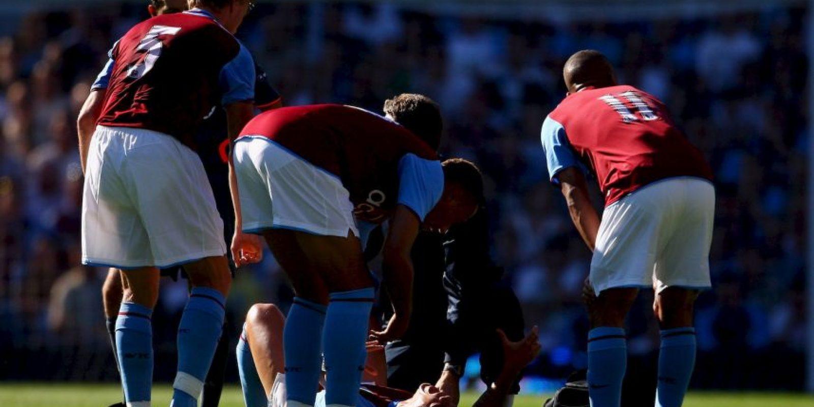 Se dislocó el tobillo. Foto:Getty Images