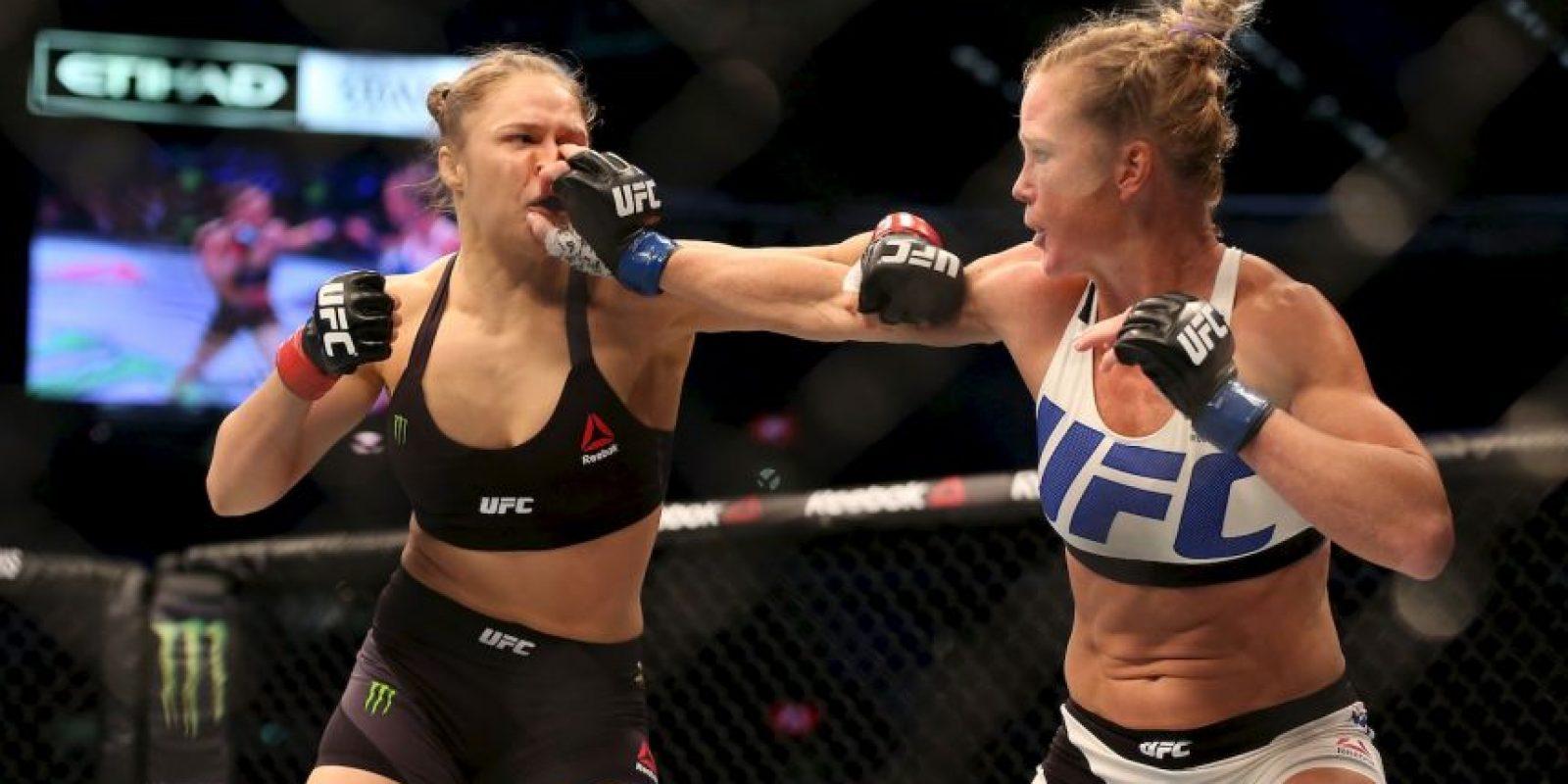 Ronda fue noqueada por primera vez por Holly Holm Foto:Getty Images