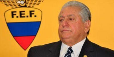 Luis Chiriboga. Ecuatoriano, 68 años. Medios sudamericanos aseguran que el Presidente de la Federación Ecuatoriana de Fútbol es el próximo en caer Foto:Getty Images