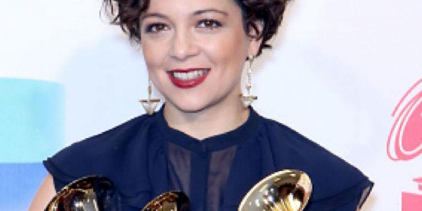 Natalia Lafourcade, una de las grandes ganadoras. Foto:vía Getty Images