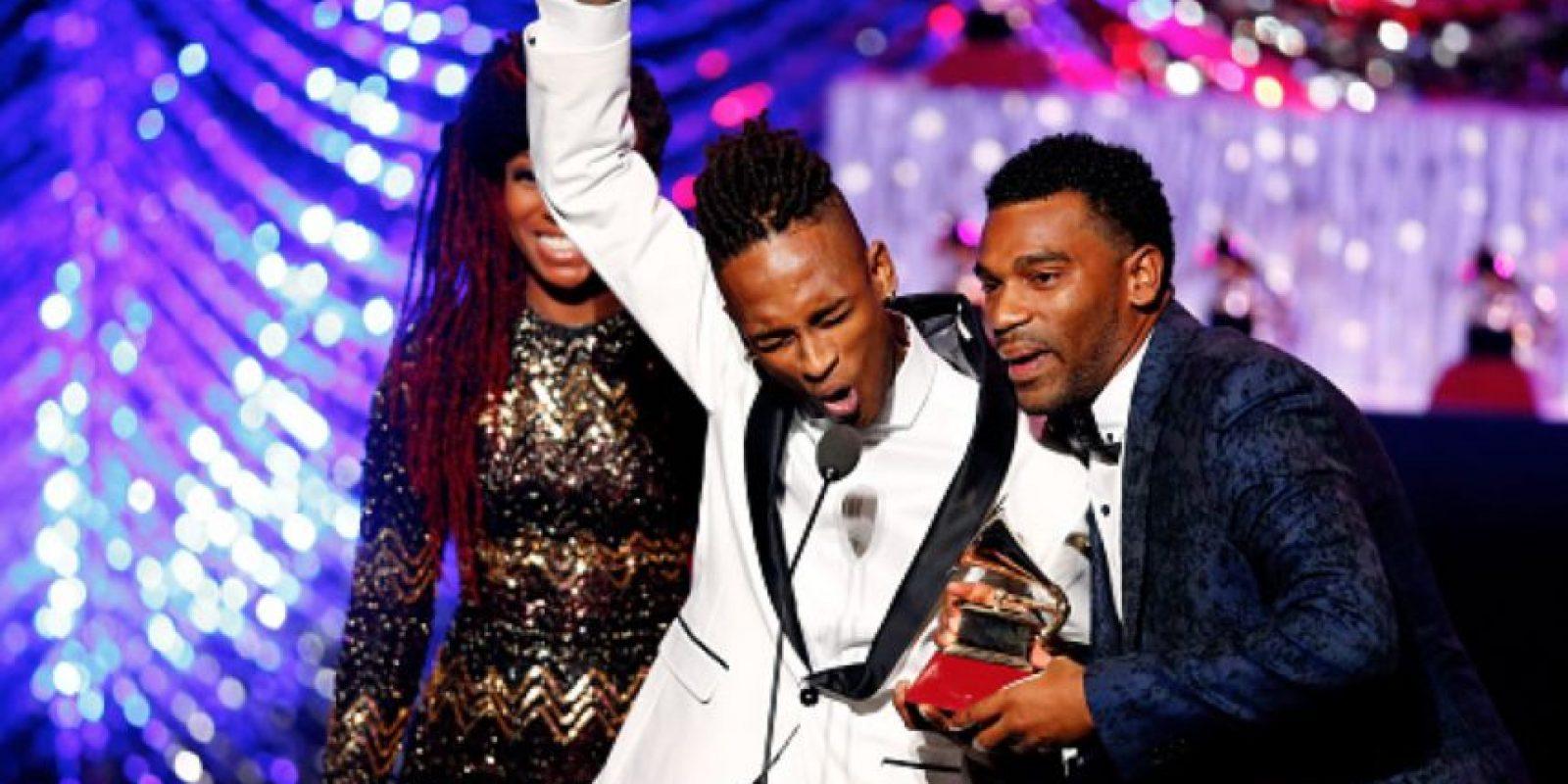 """El grupo colombiano Choquibtown ganó por """"Mejor Álbum de Fusión Tropical"""". Foto:vía Getty Images"""