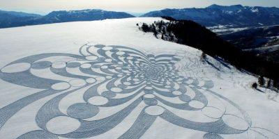 Ocupa aproximadamente una superficie de 100 por 100 metros. Foto:Vía Facebook/snowart8848