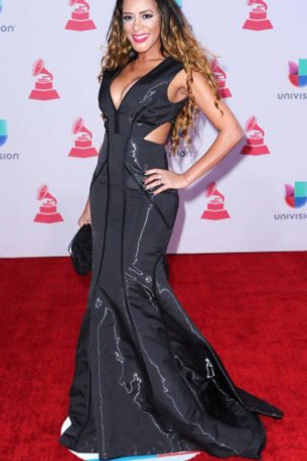 Marger MG con un vestido arruinado por el material. Foto:vía Getty Images