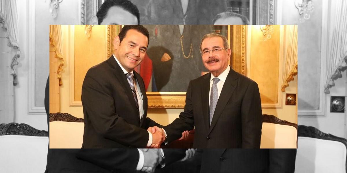 Medina recibe al presidente electo de Guatemala
