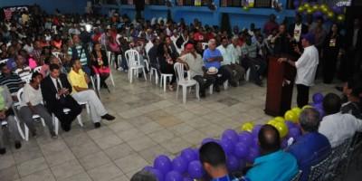Temístocles Montás encabeza masivo encuentro en apoyo a Medina continúe en Presidencia