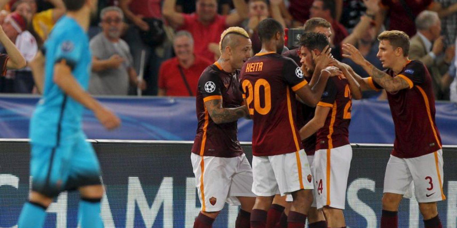 Con un gol de larga distancia en la Champions Foto:Getty Images
