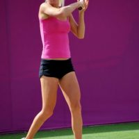 En el torneo de Wimbledon de 2008, Urszula hizo su debut en un torneo del Grand Slam en categoría individual. Foto:Getty Images