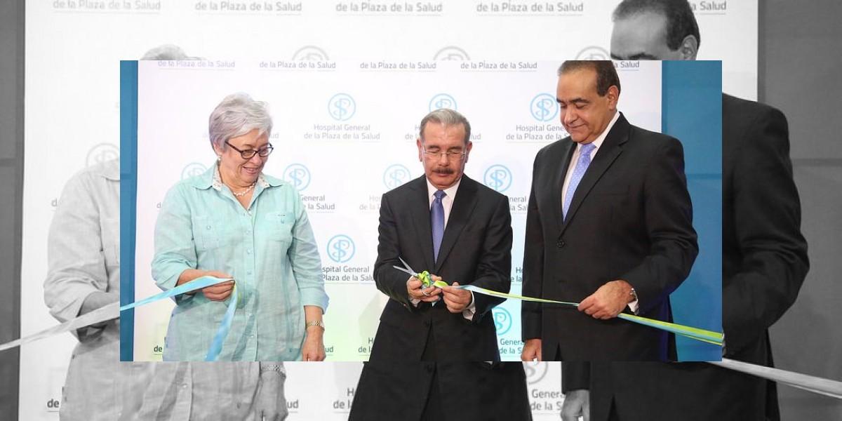El presidente Medina encabeza inauguración salas emergencias Plaza de la Salud