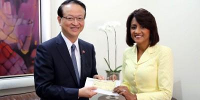 Embajador de Taiwán entrega donación para construcción CAID