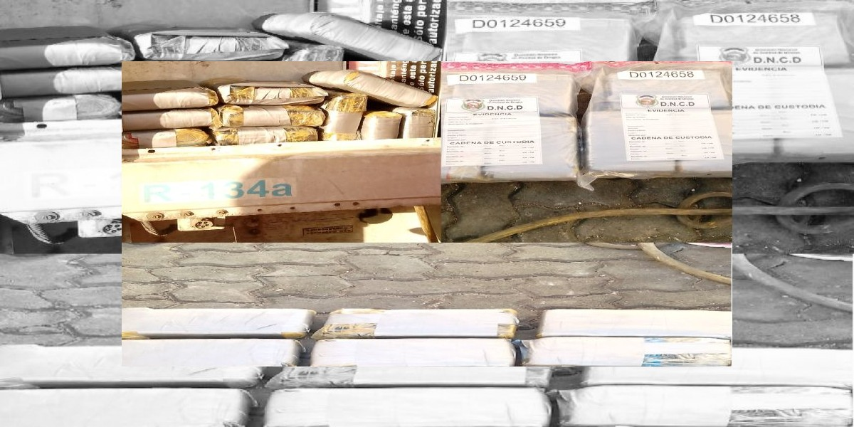 Decomisan casi 500 kilos de drogas próximo a la 6 de Noviembre