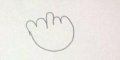 3. Esta fue la tercera nota, con el dibujo del dedo de en medio. Foto:Vía Facebook/nicki.adamsmorton