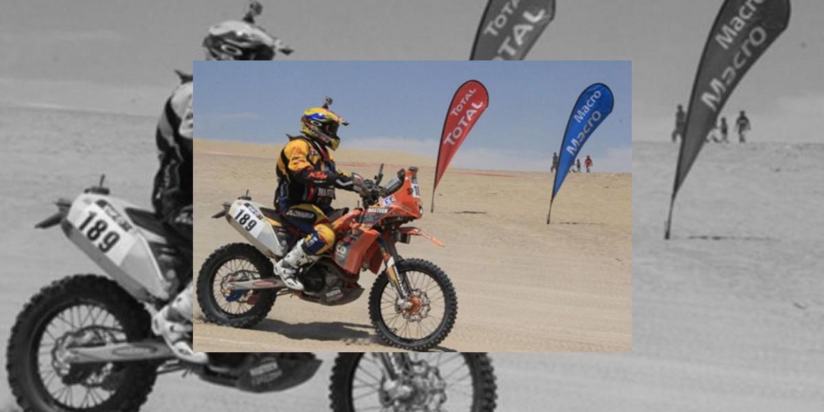 Juan Esteban Sarmiento será el único motociclista colombiano en Rally Dakar 2016