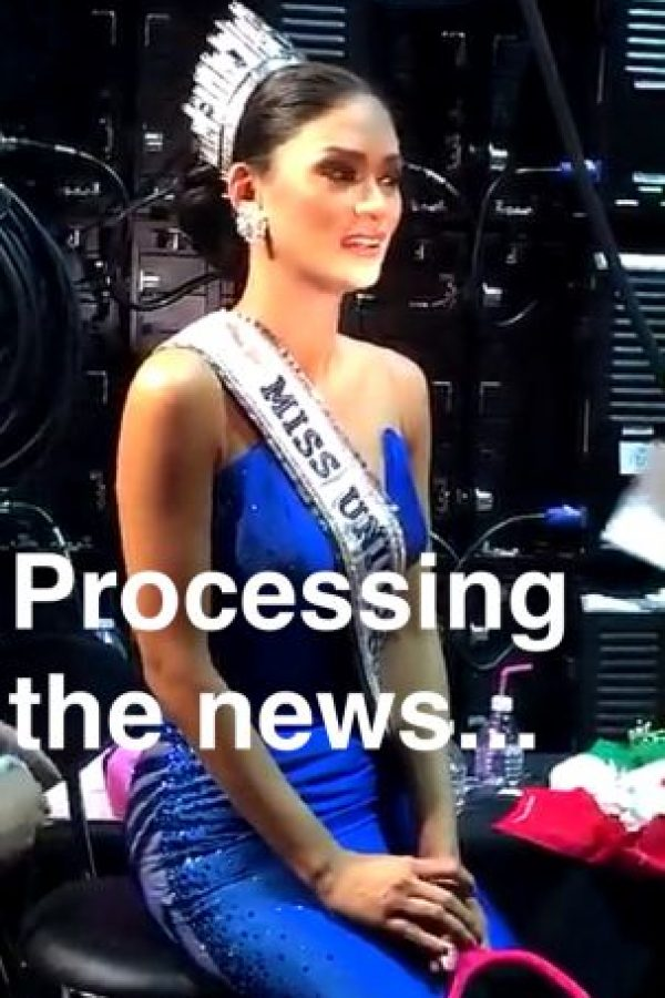 Así procesaba las noticias Miss Filipinas Foto:Snapchat – Miss Universe