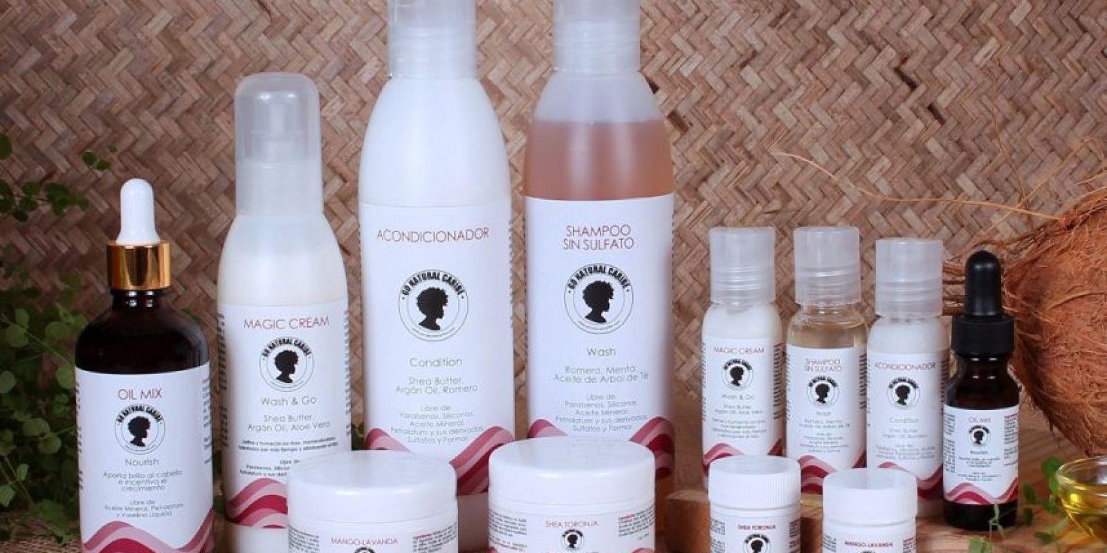 Go Natural Caribe es una completa línea de productos artesanales para todo tipo de cabello Foto:Fuente Externa
