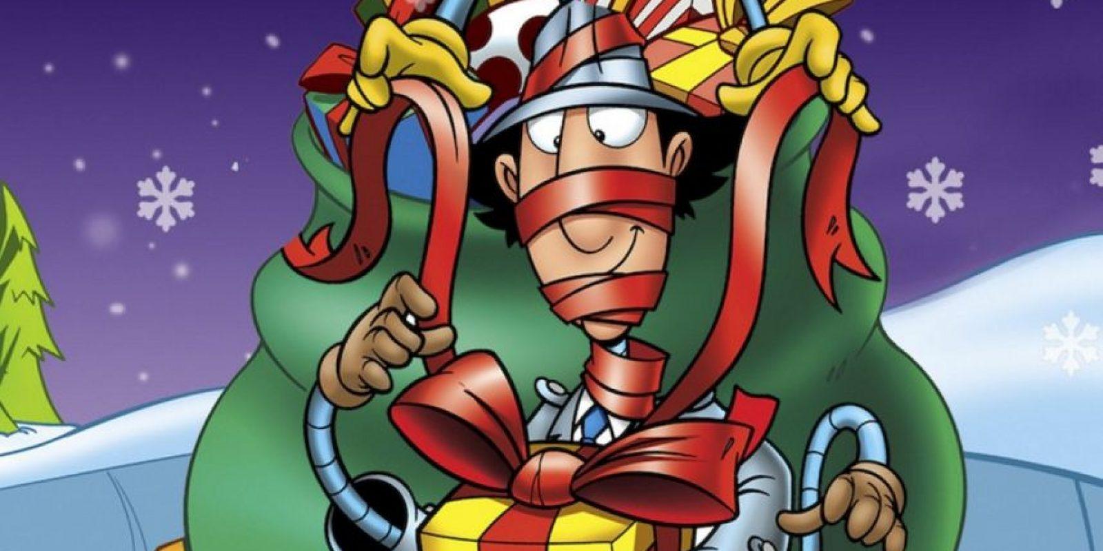 El Inspector Gadget ayudado por su sobrina Penny y su leal perro Brain, rescata a Santa del malvado Dr. Claw. Foto:vía Netflix