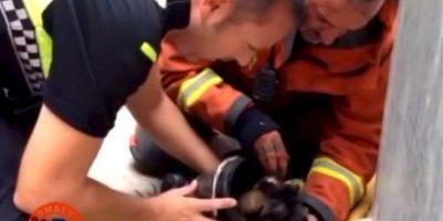 Carlos Arana y un grupo de bomberos llegaron a la ciudad de Sagunto en Valencia, España, para extinguir el fuego de una casa. Foto:Facebook.com/BomberosdelConsorcioDeValencia