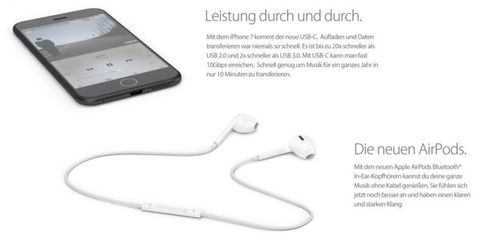 iPhone 7 no tendría entrada para auriculares. Foto:vía handy-abovergleich.ch