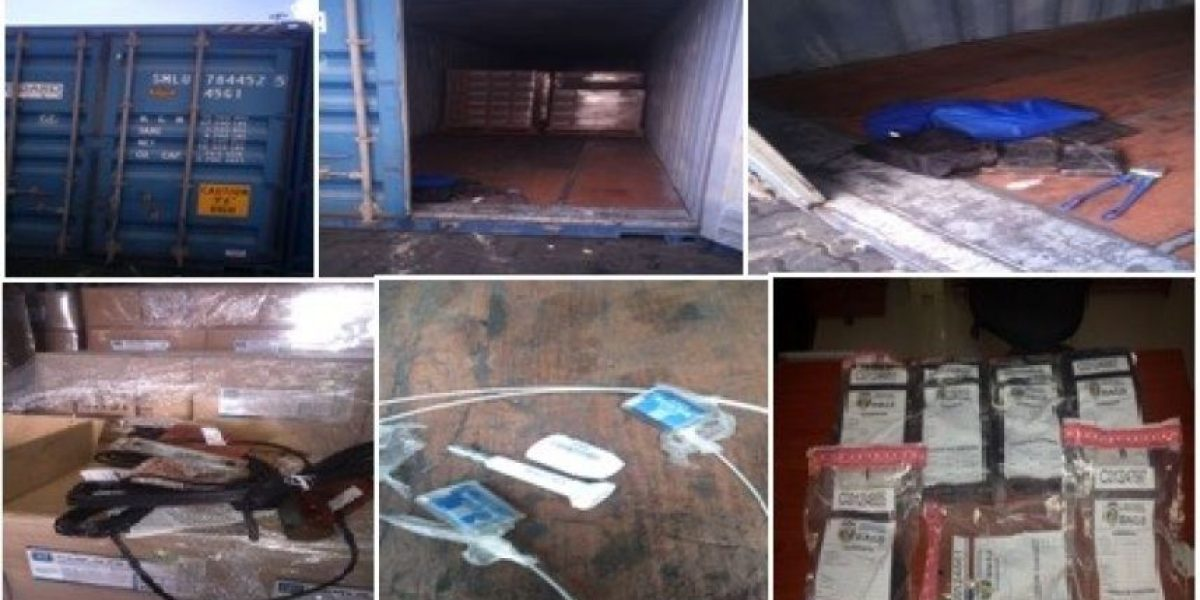 DNCD decomisa unos 25 kilos de cocaína en el puerto de Haina y aeropuerto de Punta Cana