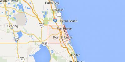 El hecho ocurrió en el condado St. Lucie, al sureste de Florida. Foto:Google Maps