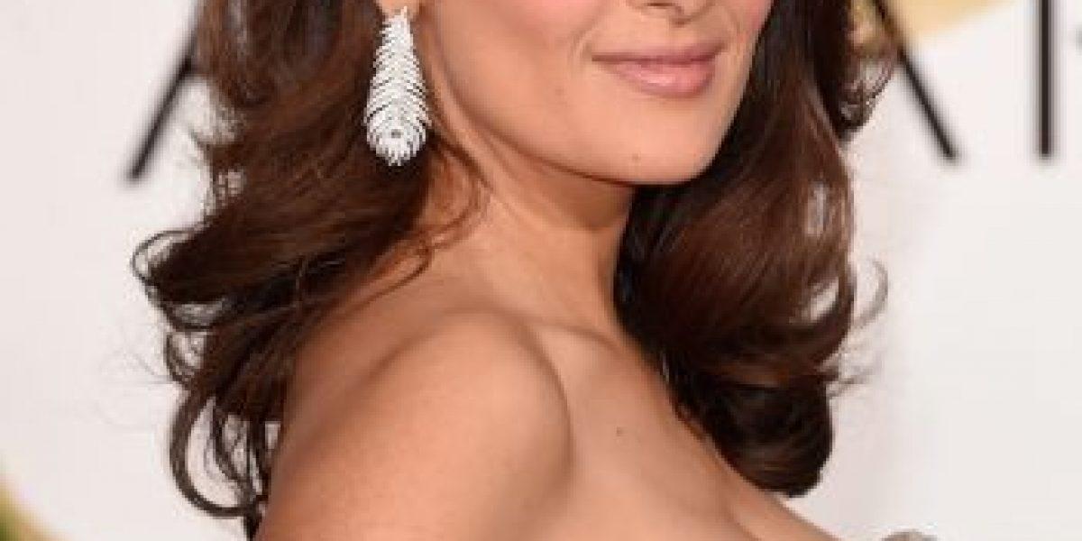 Foto: Miren cómo luce Salma Hayek con el cabello rubio platinado