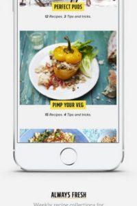 Se trata de un recetario escrito y en video que incluye tiempos de cocción para cada receta, útiles guías prácticas y una sección especial dietética. Foto:App Store