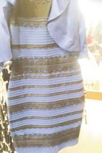 """#ElVestido. Algunos lo vieron blanco y dorado, otros negro y azul, la prenda de ilusión óptica conocida como """"el vestido"""" desató una conversación global el 26 al 27 de febrero, con más de 4,4 millones de tweets sobre el debate más grande del año. Foto:Fuente Externa"""