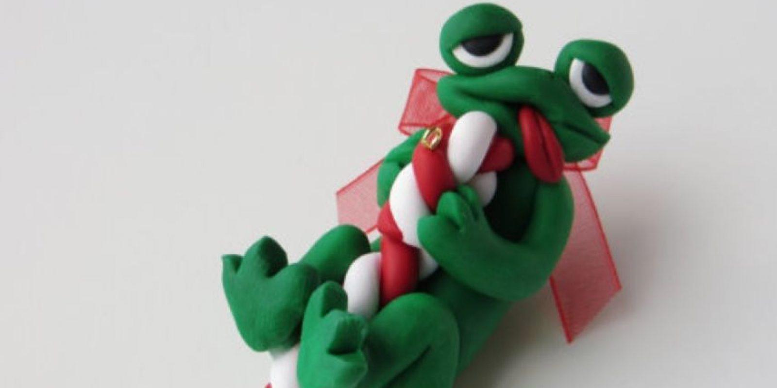 ¿Qué tiene ese bastón de Navidad? Foto:Etsy