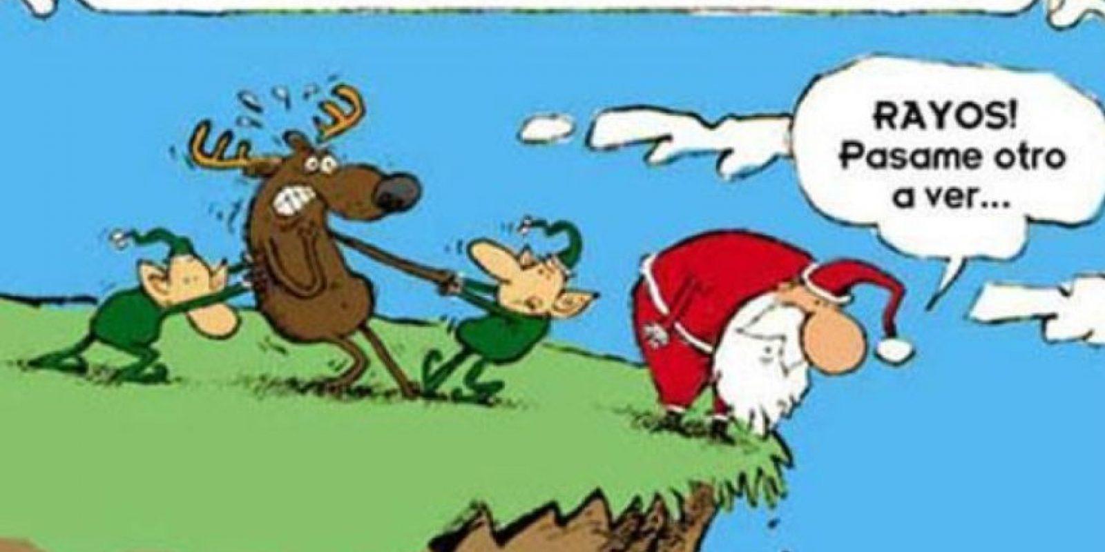 ¡Santa malo! Foto:Tumblr.com/Tagged-Navidad-memes