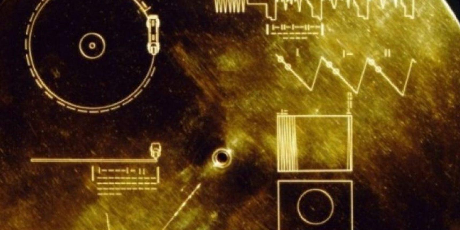 4. El disco de oro de las Voyager Foto:Wikimedia.org