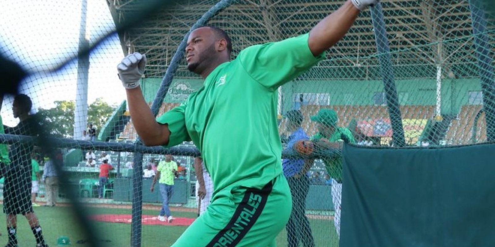 """""""El Potro"""", Hanser Alberto ha estado activo en las redes con su swing verde. Foto:FUENTE EXTERNA"""