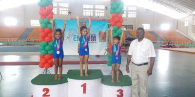 Rodriguez, Polanco y Díaz brillan en torneo gimnasia