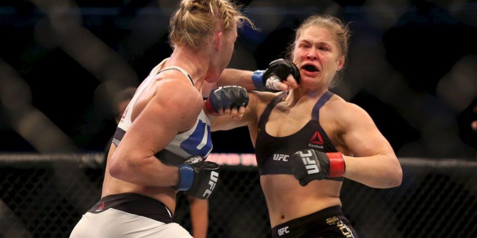 """Fue la primera derrota de """"Rowdy"""" en las artes marciales mixtas Foto:Getty Images"""