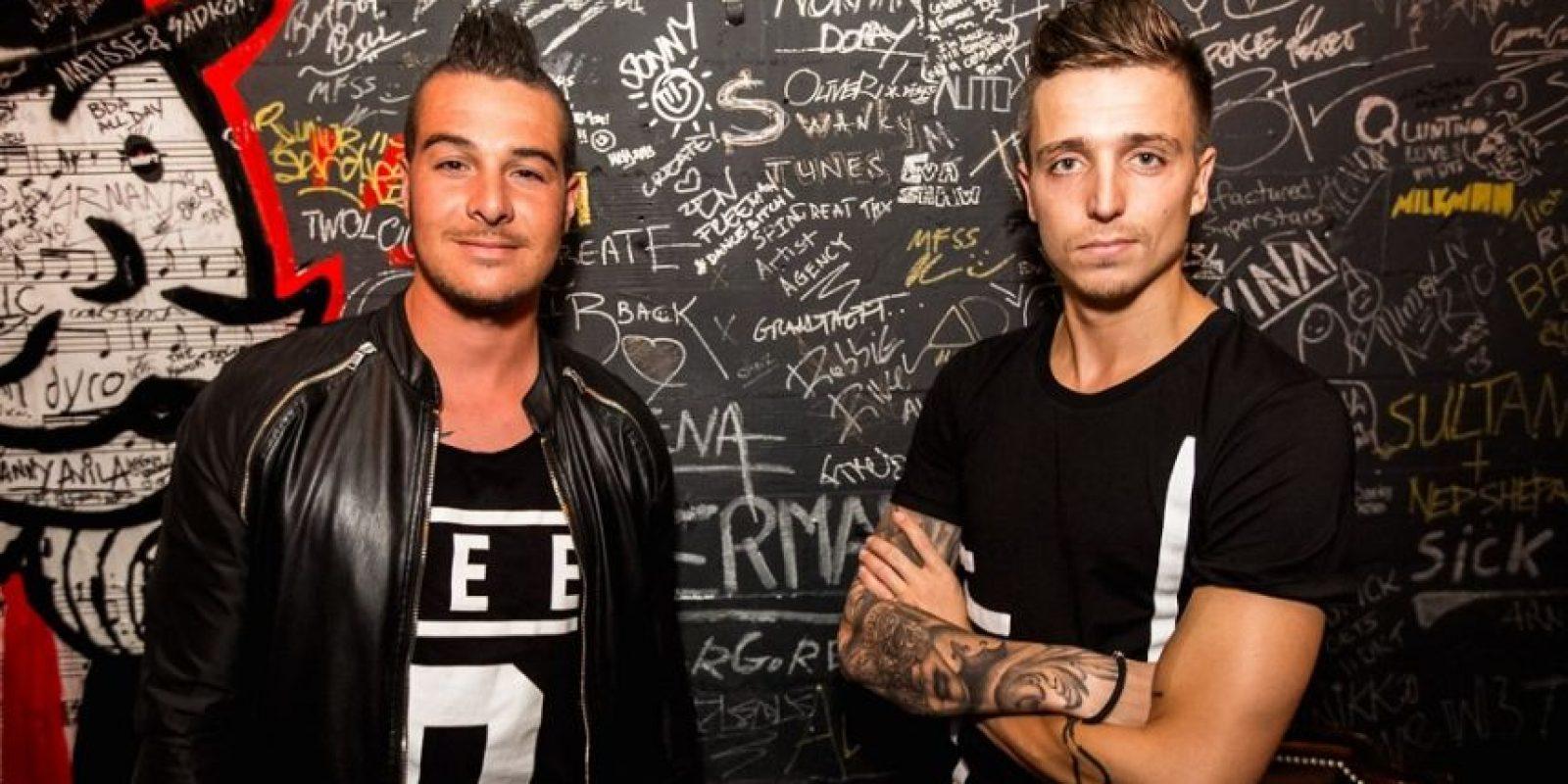 BlasterJaxx, el dúo de música electrónica holandés integrado por Thom Jongkind y Idir Makhlaf. Foto:Fuente Externa