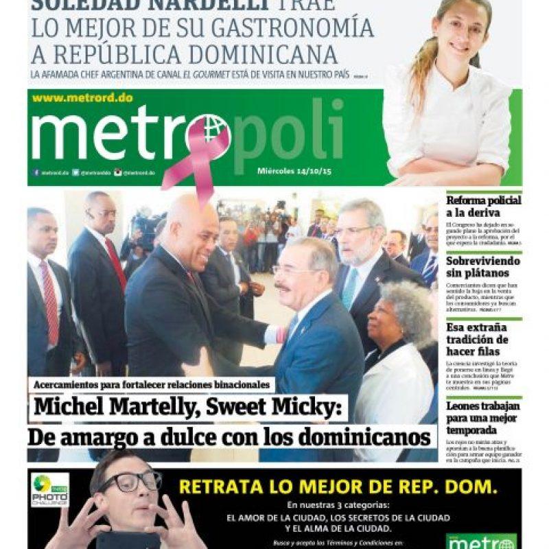 Reunión Medina – Martelly. 14 de octubre