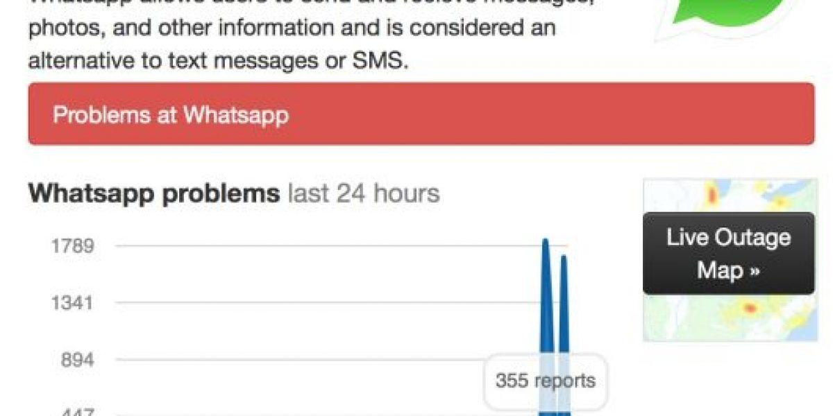 ¿Otra vez? WhatsApp presenta problemas a nivel mundial