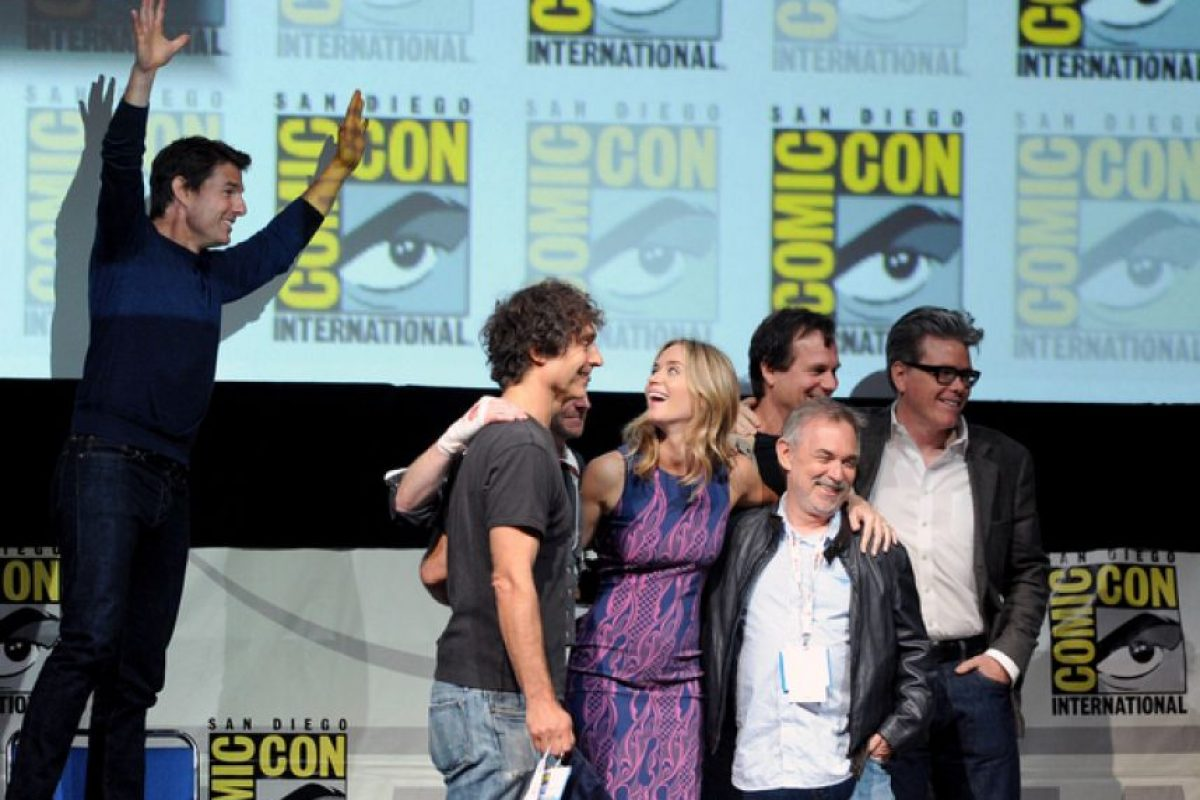 Tom Cruise robando el protagonismo de esta foto Foto:Getty Images