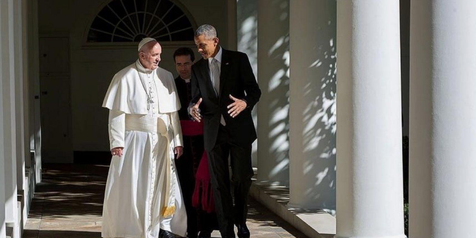 Con el Papa Francisco en la Casa Blanca, durante una charla privada Foto:instagram.com/petesouza/