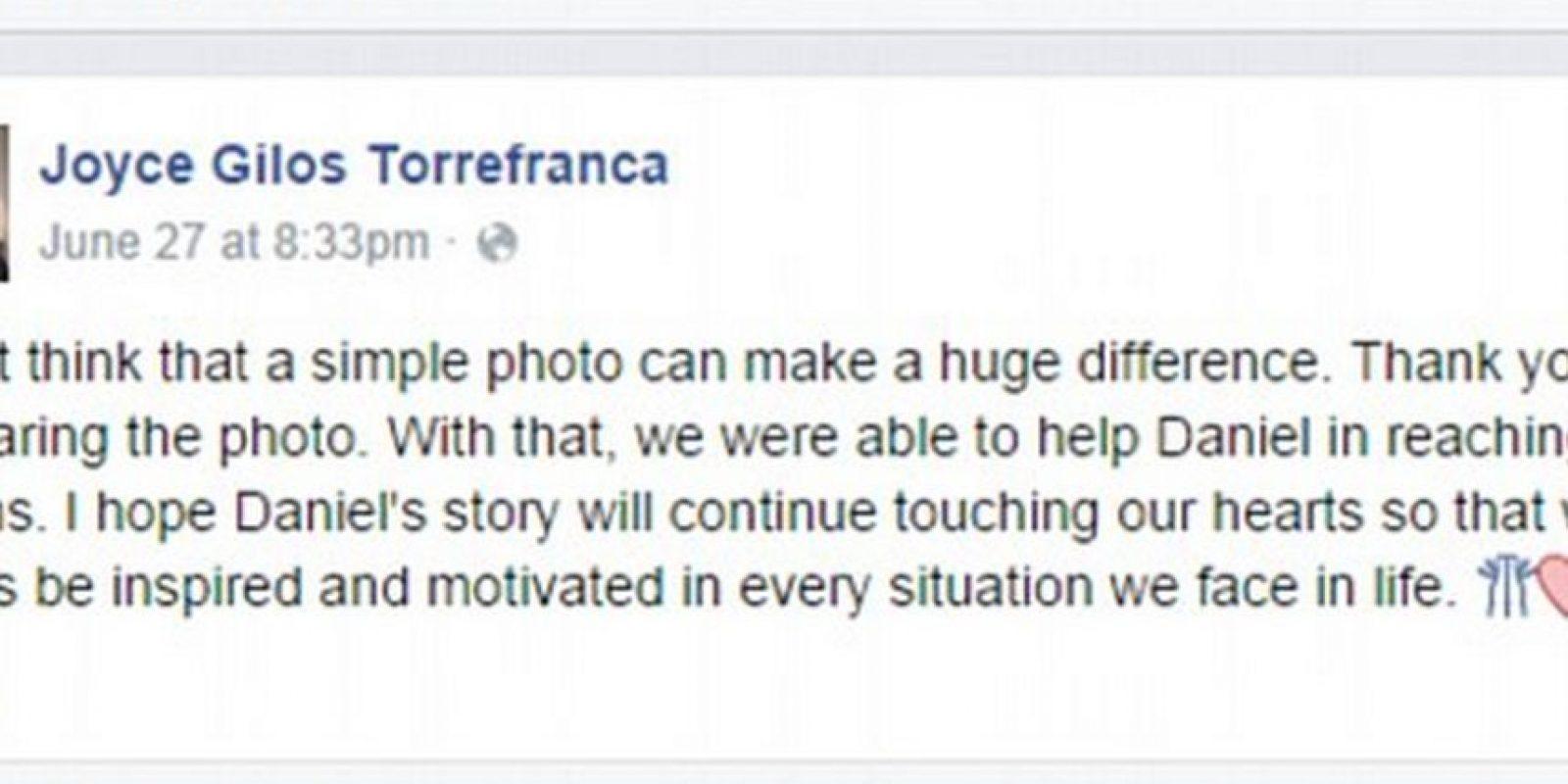 Otras historias conmovedoras de gente en estado de pobreza. Foto:facebook.com/joyce.torrefranca?fref=ts