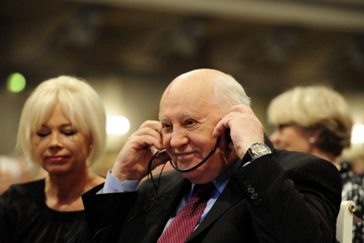 El último líder de la Unión Soviética exclamó: Foto:Getty Images