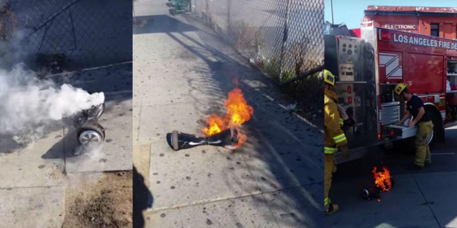 Usuario mostró la forma en que su hoverboard se incendiaba. Foto:vía YouTube.com