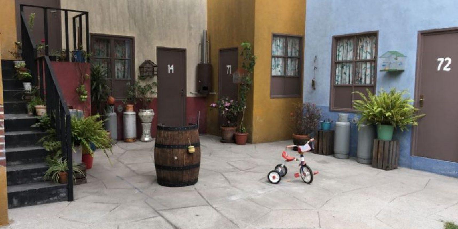 El patio de la vecindad. Foto:Nicolás Corte