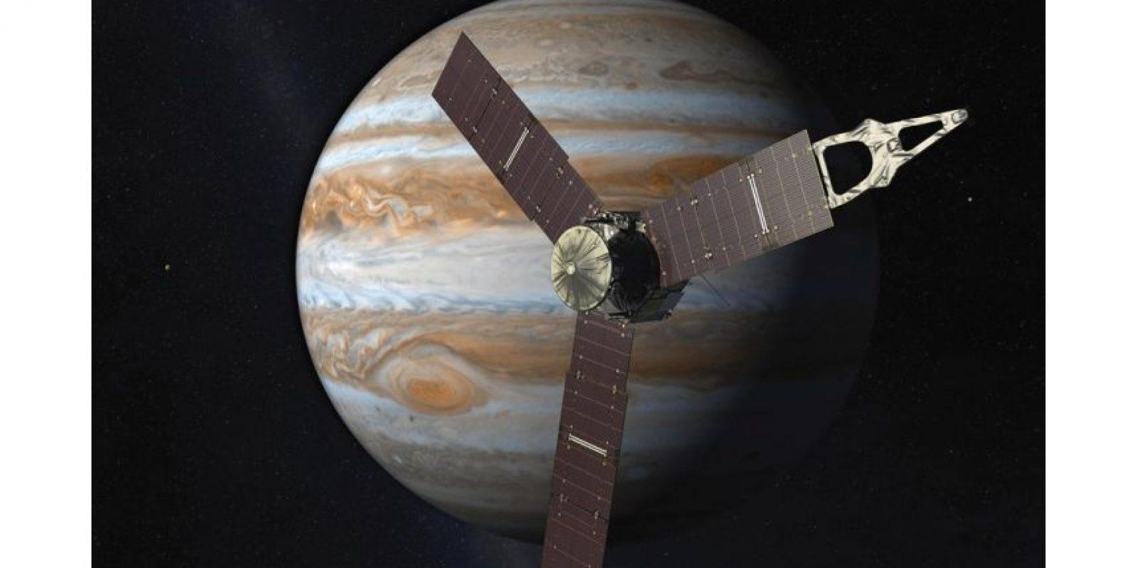 Así es como en julio podría verse Juno al lado de Júpiter. / Credit: NASA
