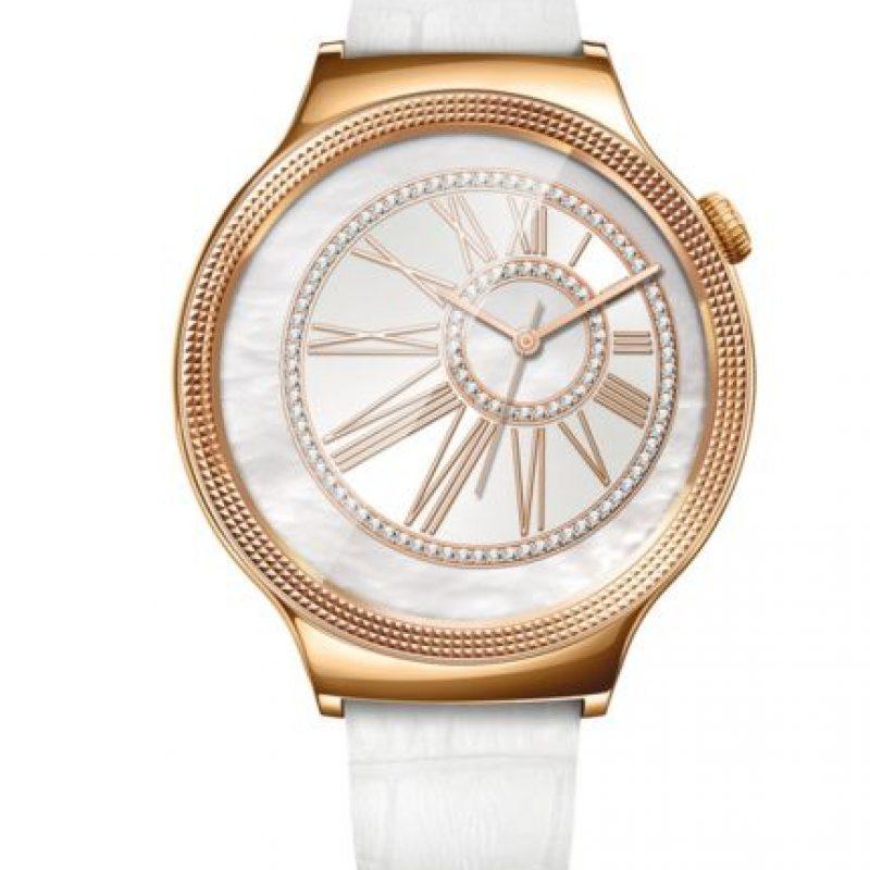 1- Huawei Watch Elegant con correa blanca. Foto:Huawei