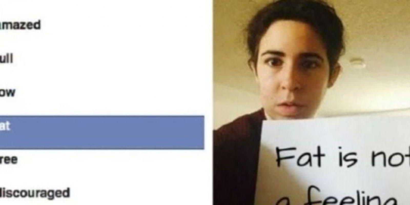 """7- Facebook tuvo que retirar el emoji que expresaba """"me siento gordo"""" por múltiples reclamos por discriminación y falta de respeto. Foto:vía change.org"""
