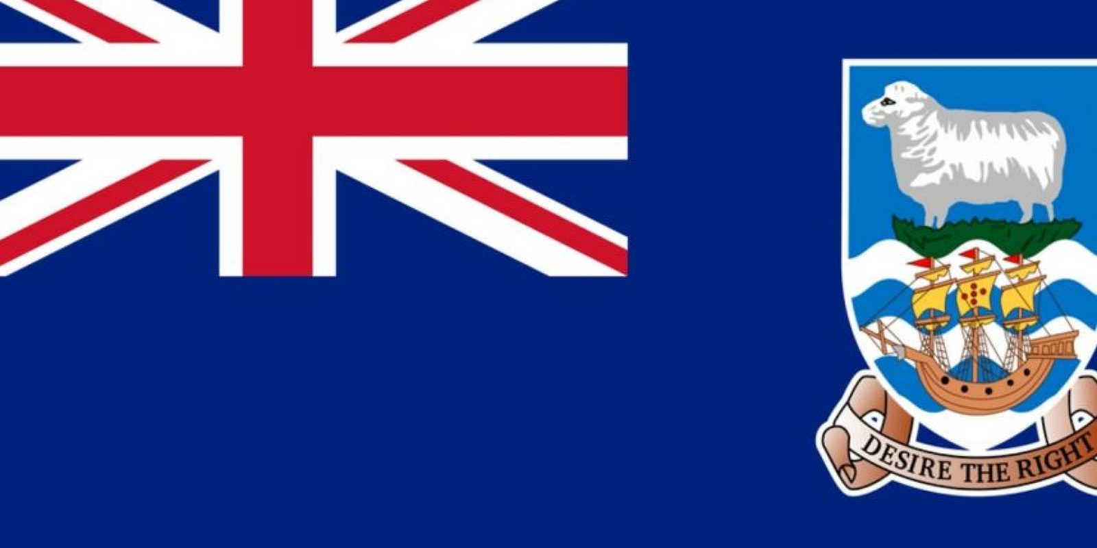 La bandera de las Islas Malvinas. Foto:vía Tumblr.com