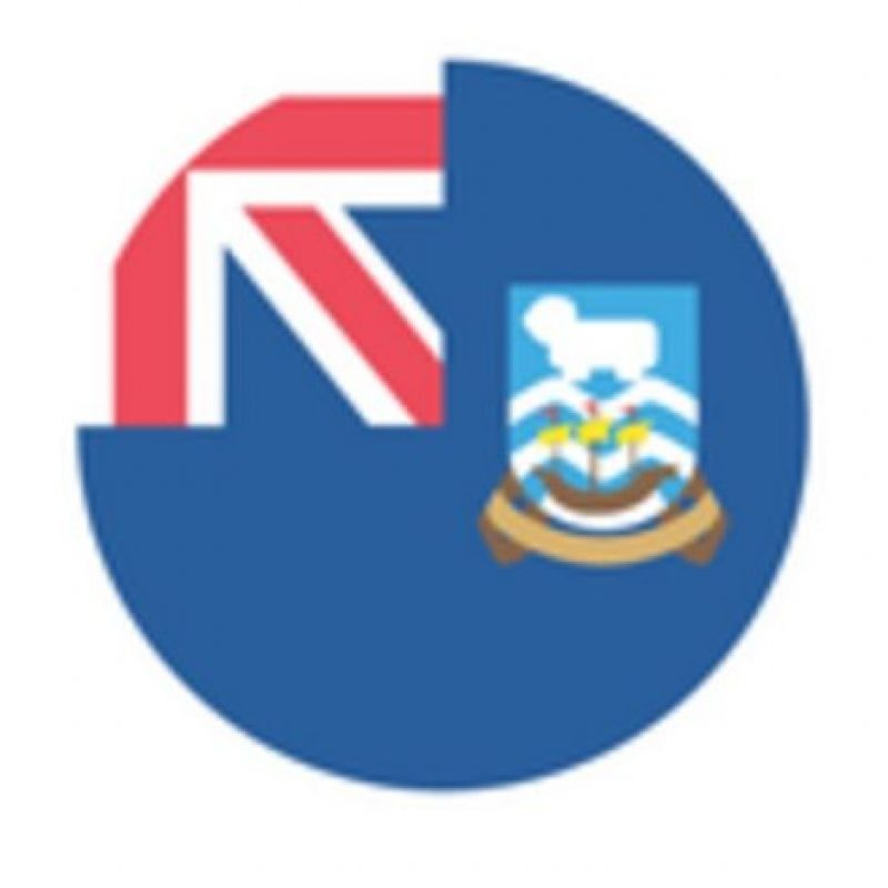 Islas Malvinas en Emoji One. Foto:vía emojipedia.org