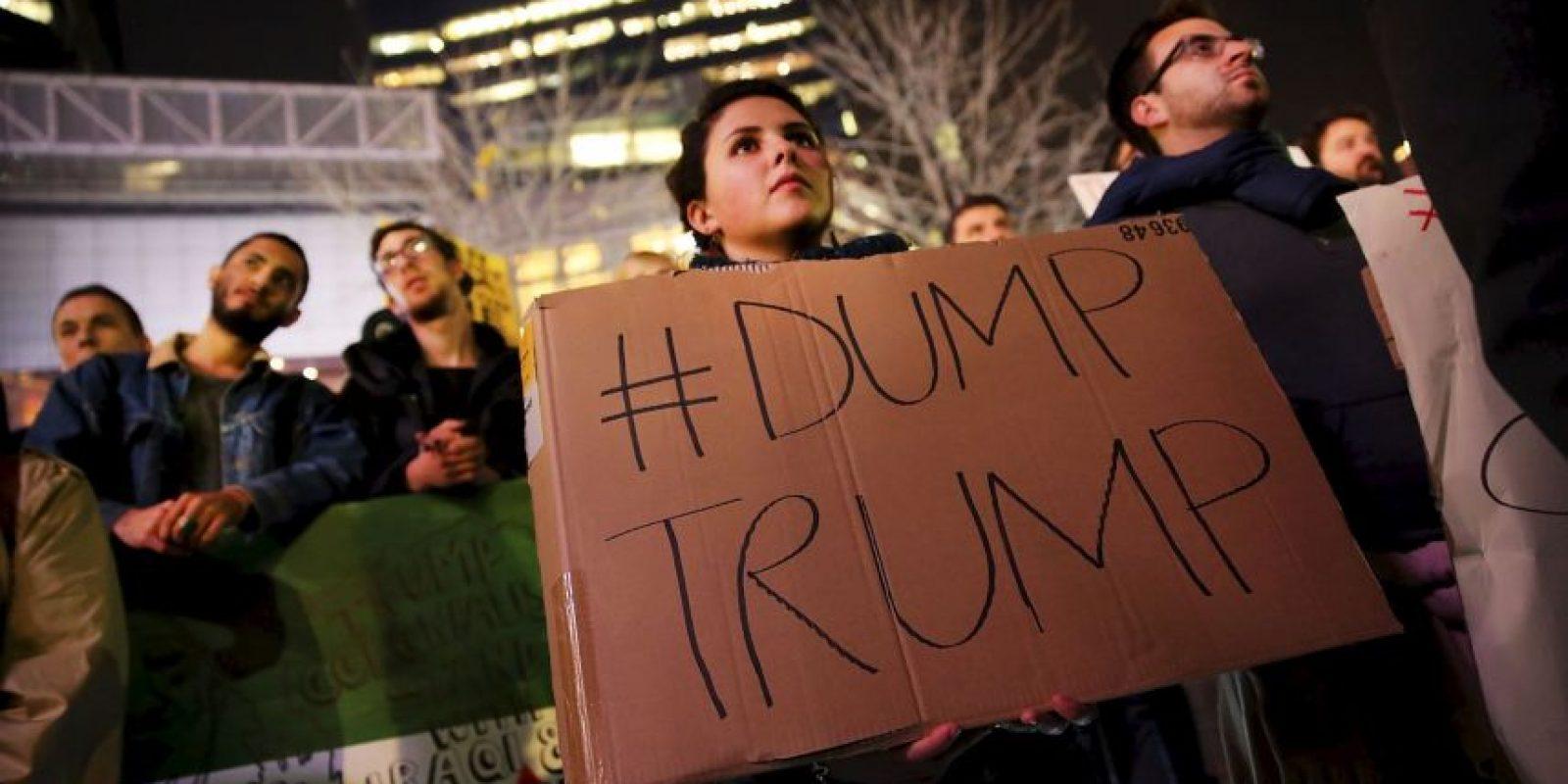 Inició su candidatura anunciando que creará un muro en la frontera Foto:Getty Images