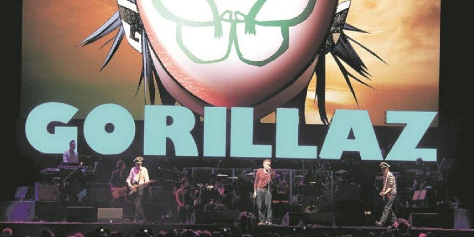 """3- Gorillaz. Fue Jamie Hewlett, ilustrador de la banda, quien confirmó un nuevo álbum para el próximo año.""""Muy rápido"""" y """"energético"""" son los únicos dos adjetivos que Damon Albarn ha querido adelantar sobre el próximo disco de la agrupación. Foto:Archivo"""