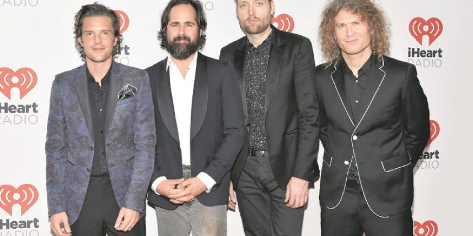 """6- The Killers. El conjunto estadounidense anunció que se encuentra inmerso en la composición del que sería su quinto álbum de estudio. """"En un mundo ideal, los fans podrán disfrutar del disco a finales de 2016"""", declaró el vocalista de la banda, Brandon Flowers, a New Musical Express (NME). Foto:Archivo"""